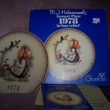 Goebel Vintage Hummel Plate 1978